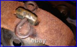 Antique 1930's Graduated Brass Sleigh Bells Leather Horse Christmas 18 bells