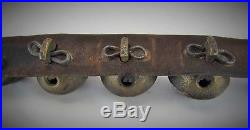 Antique 19th Century Graduated Brass Sleigh Bells on Horse Harness
