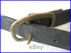 Antique 63 Leather Strap 15 Brass Graduated Numbered Horse Sleigh Bells Jingle