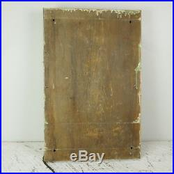 Antique 7 Brass Bell Fire House School Boxing vintage wood BOARD MOUNTED