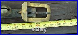 Antique 97.5 LEATHER STRAP 30 Brass Graduated Numbered HORSE SLEIGH BELLS