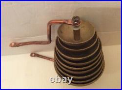 Antique 9 Brass Clock Bells For Antique Music Clock. Part Only