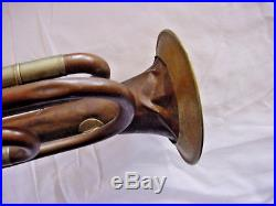 Antique Alto Rotory Valve Trumpet Bell Signed O Reitzman Chemitz 1941 N6l Rgt