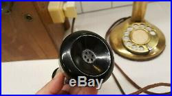 Antique American Bell Telephone Candlestick Brass Telephone Converted Works 1910