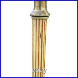 Antique Art Deco Swing Arm Floor Lamp with Milk Glass Shade