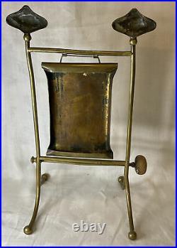Antique Art Nouveau Brass Dinner Gong Bell Striker Table Top Crafts Aesthetic