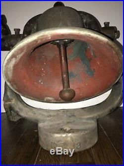 Antique Authentic Brass Train Locomotive Bell 14.75 Cast Iron Yoke Cradle