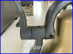 Antique Authentic Brass Train Locomotive Bell Apx 14.5 / Cast Iron Yoke Cradle