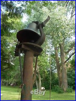 Antique BRASS/BRONZE LOCOMOTIVE BELL GREAT NORTHERN #3253 TYPE 2-8-2