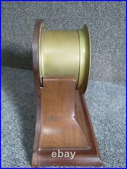 Antique Bass Ships Bell Clock walnut stand
