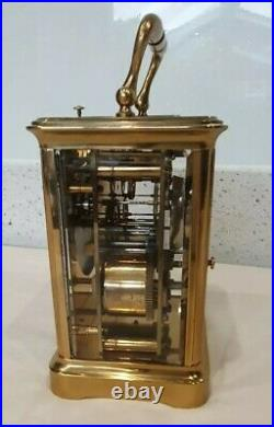 Antique Bell Strike Repeat 4 Glass Carriage Clock Henry Bright Lemington