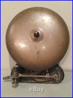Antique Bevin Brass Boxing Ring Bell 10 Functions Well