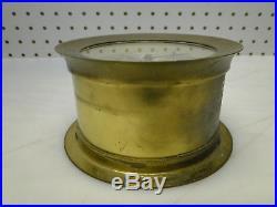 Antique Brass Case Seth Thomas Helmsman Ships Bell Clock Key Wind 1008 E537-001