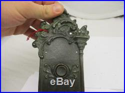 Antique Brass Double Door Bells Architectural Gilt Rococo Green Man Apartment