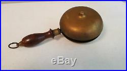 Antique Brass Fire Alarm, Muffin Bell Rare Dated Oct. 27 1868 Larger Size