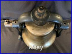 Antique Brass H. G. HAMMETT Train Locomotive Bell & Cast Iron Cradle RR Troy NY