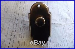Antique Brass Mechanical Front Door Bell Pull (Victorian, butlers maid)