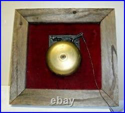 Antique Brass Ringside Boxing Fight Mechanical Bell Mounted on Wood Doorbell 8