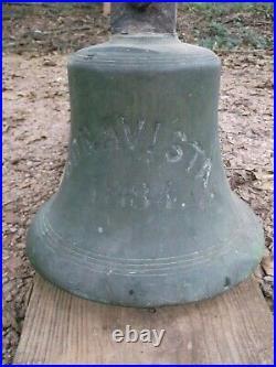 Antique Brass Ships Bell from the Bonavista built 1884, wrecked in 1912