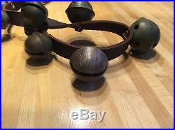 Antique Brass Sleigh Bells -17 Bells