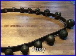 Antique Brass Sleigh Bells -19 Bells