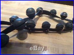 Antique Brass Sleigh Bells -21 Bells