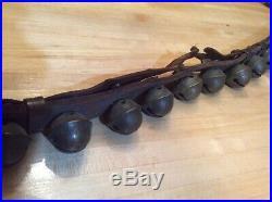 Antique Brass Sleigh Bells 45 Bells