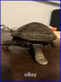 Antique Brass Tortoise desk Hotel Table bell