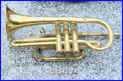 Antique Brass Tuba Couesnon Early 1900s With Case L14.6inch Bell 4.7inch