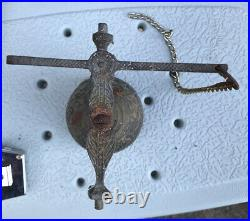 Antique Brass Wall Mount Catholic Church Bell VOCEM MEAM AUDIT OUI ME TANGIT
