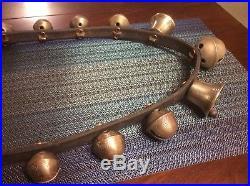 Antique Brass sleigh bells 15 Bells