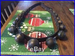 Antique Brass sleigh bells 17 Bells