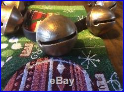 Antique Brass sleigh bells 25 Bells Big Bell Set