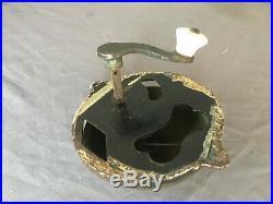 Antique Cast Iron Brass Turn Crank Handle Door Bell Old Victorian Vtg 118-19E