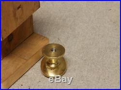 Antique Cast Iron Brass Turn Key Door Bell Old Victorian Door Hardware 755-16