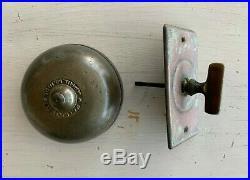 Antique Cast Iron Brass Twist Turn knob Door Bell Pat. 1891 Vtg Ringer 172-20J