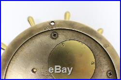 Antique Chelsea Ship's Bell Brass Clock with Key
