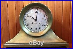 Antique Chelsea Ships Bell Clock withGreat Lakes Maritime History. Rare Large Base