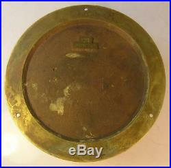 Antique Chelsea Ships Bell Solid Brass Ships Clock 5 1/2 Inch Dial Working