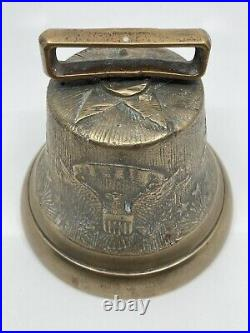 Antique Civil War US Army Camel Corp US Cavalry Eagle Brass Bell