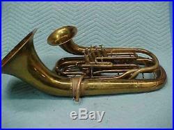 Antique Conn Double Bell 5 Valve Euphonium Baritone