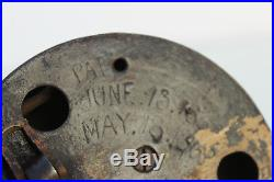 Antique Corbin's Door Bell, Pull Lever New Britain Bronze/Brass DOG HEAD LEVER