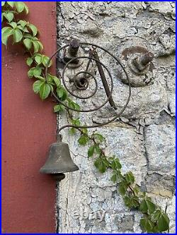 Antique Country Store Door Bell Primitive Brass Farmhouse Kitchen Rustic