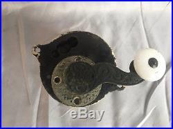 Antique Door Bell Cast Iron Brass Corbins COMPLETE Old Vtg Turn Knob 236-17J