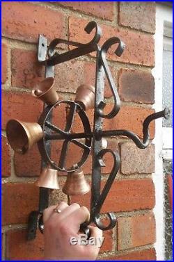 Antique Door Bell Wrought Iron Brass Bells Industrial Commercial Shop Bell VGC