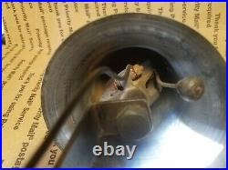Antique Fire Engine Bell with Light and Motorized Apparatus Plated Brass c. 1910