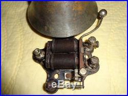 Antique Fire House Alarm Bell Brass Faraday Alarm Signal Bell Brass Working