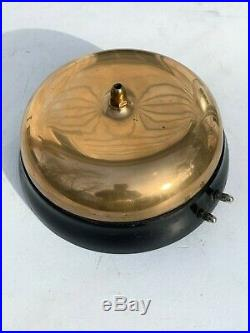 Antique Gamewell 11 inch Brass bell polished with key Fire house Fighterfighter