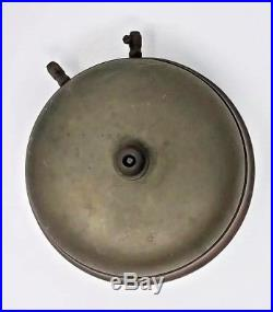 Antique Gamewell Fire Alarm and Telegraph Co. 6 Brass Gong Bell Turtle withPatina