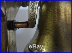 Antique Gilbert brass alarm bell clock, C. 1883, working